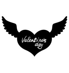 wings heart vector image