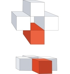 Cubes color 12 vector