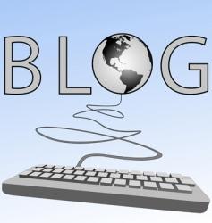 blogging vector image