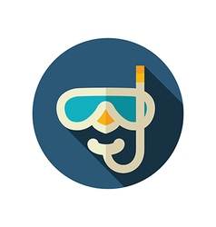 Diving mask flat icon summer vacation vector