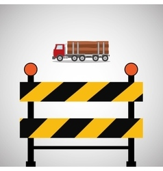 Under construction design supplies icon barrier vector