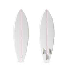 Realistic blank surfboard vector