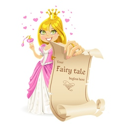 Sweetheart princess with banner -your fairy tale vector