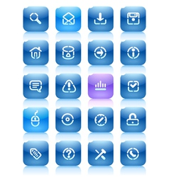 Stencil blue buttons for internet vector