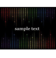abstract background with multicolored stars vector image