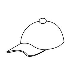 Baseball hat icon image vector