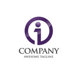 best business corporate letter i logo vector image vector image