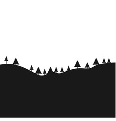 black landscape with trees vector image