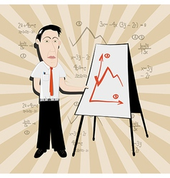 Business Man - Teacher vector image vector image