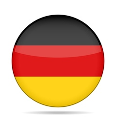 Button with germany flag vector