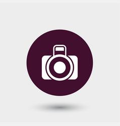 Camera photo icon simple vector