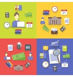 collection of flat and colorful business vector image