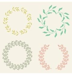 Colored Laurel Wreaths vector image vector image