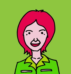 Cute cartoon people woman vector image