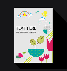 eco geometric flat design background template vector image