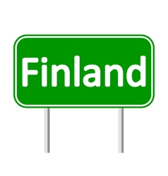 Finland road sign vector