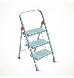 Foldable stepladder isolated on white background vector