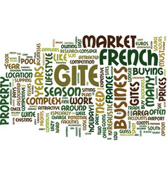 French gites lifestyle or a business text vector