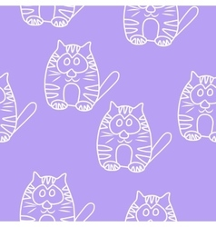 Funny Seamless pattern with cat Baby cat vector image vector image