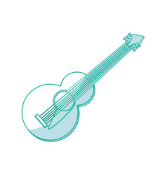 guitar music instrument vector image
