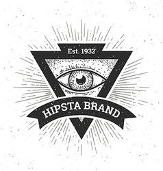 Hipster banner vector