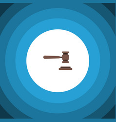 Isolated law flat icon legal element can vector