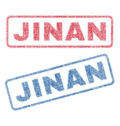 Jinan textile stamps vector