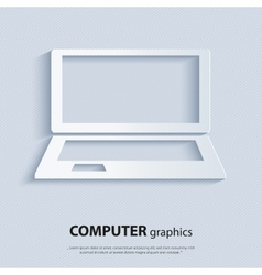 Modern computer - laptop vector image vector image