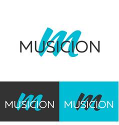 musicion logo letter m logo logo template vector image vector image