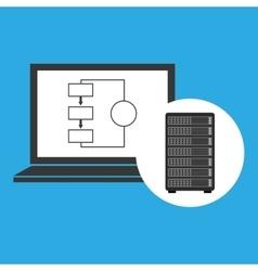 Network server concept laptop data vector