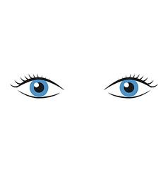 Pair of blue eyes vector