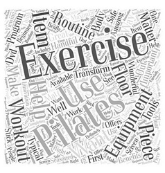 Pilates exercise equipment word cloud concept vector