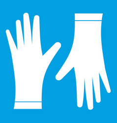 Protective gloves icon white vector