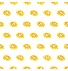 Seamless pattern summer beach frisbee background vector