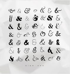 Set ampersands for letters vector