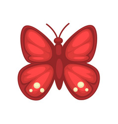 small red butterfly vector image vector image