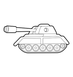 Tank icon outline style vector