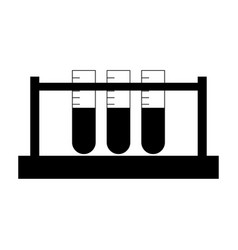 Test tube the black color icon vector