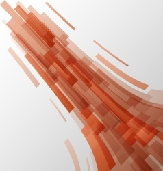 Abstract orange elements technology background vector