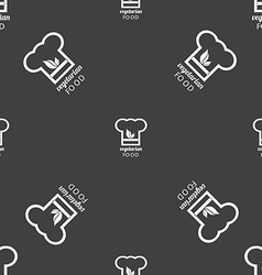 Vegan food graphic design sign seamless pattern on vector