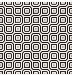 Seamless Black And White Geometric Rounded vector image