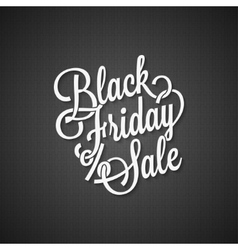Black friday vintage lettering background vector