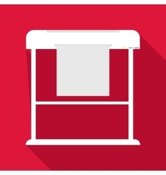 Large format printer icon flat style vector