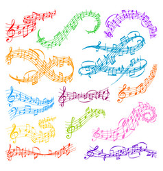 Music note melody symbols vector