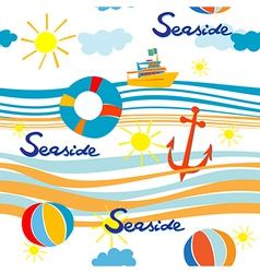 Seaside pattern vector