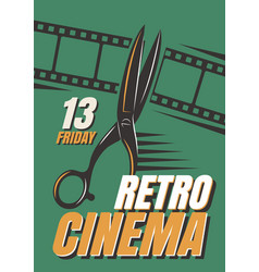 Posters of films in retro style vector