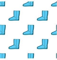 Warm winter blue ugg boots comfortable winter vector