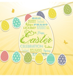 Easter border background and bunting vector