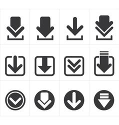 Icon download vector