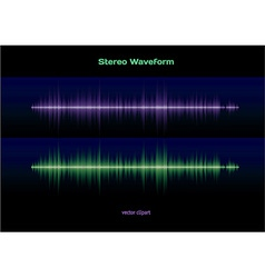 Stereo sound waveform vector